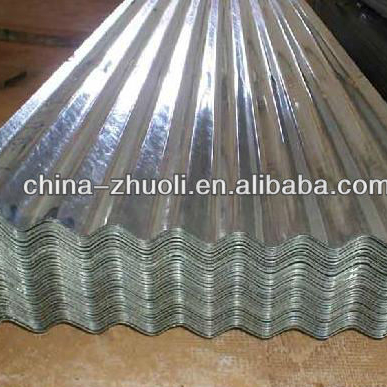 high rib corrugated steel sheet/color coated galvanized roof sheet