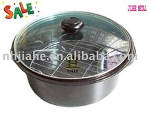 28cm round enamel cookware with glass lid