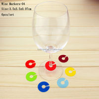 Reusable Party Custom Washable Promotion Drinking Glass Clips, Wholesale FDA Glass Holder Clip