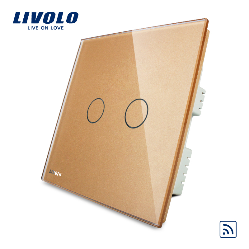 Livolo Best Selling Super Quality 1-3 Gang Light Switch Wall Switches with Remote Control VL-C302R-63