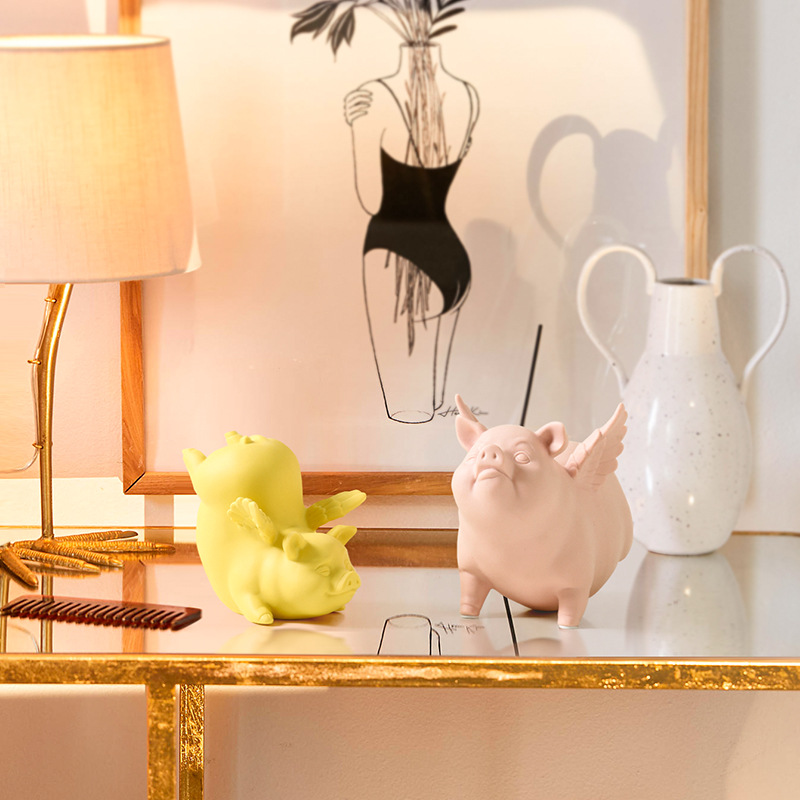 Modern Flying Pig Nordic Home Living Room Creative Wedding Gift Wedding Gift pink