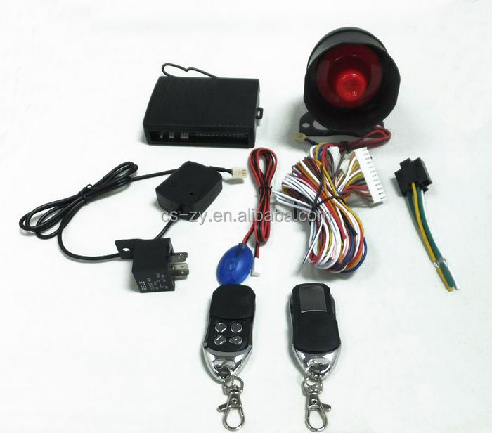 silent car alarm system with safeguard