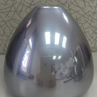 chromium Silver Powder Coating with Chrome mirror effect