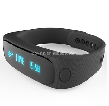 E02 Bluetooth 4.0 Smart Sports Bracelet Support Camera Remote Video Remote Sport Tracking Sleep Tracking Watch Function