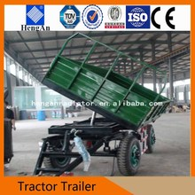 Four Wheel Hydraulic Dump Mini Agricultural Tractor Trailer