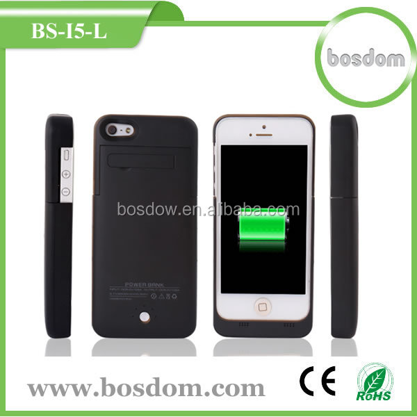 2200mah 3 in 1 external backup rohs battery case for iphone5