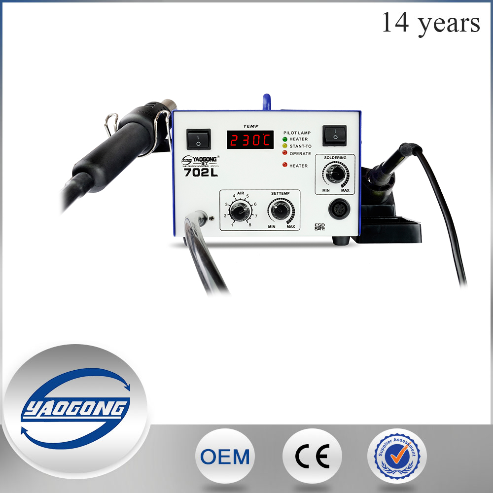YAOGONG 702L 2 in 1 low price hot air smd rework soldering station