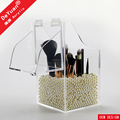 Clear Makeup Orgainzer Brush Holder With Logo