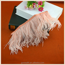 high quality fashion designs feather lace fringe trims for decorations