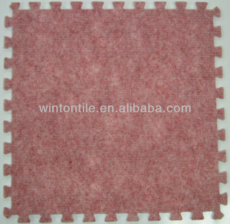 EVA Interlocking carpet tile/eva foam carpet tiles/interlocking carpet tile