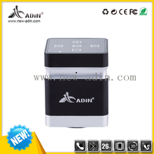 adin 26w wireless mini cube vibration stereo bluetooth speaker with Mic