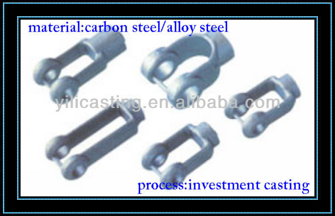 shift fork machinery part investment casting cast steel lost wax casting