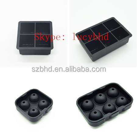 Best Ice Cube Trays Molds,perfect silicone ice ball molds,Jumbo Whiskey and Cocktail Large Cubes Size