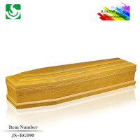 JS-BG090 popular European style solid wood caskets and coffins