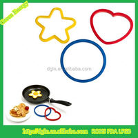 Silicone Fried Egg Former With Metal Handle of Cookware