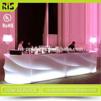 Highest Quality Colorful Modern Pe Plastic Ce,Rohs Certified Salon Color Bar Furniture