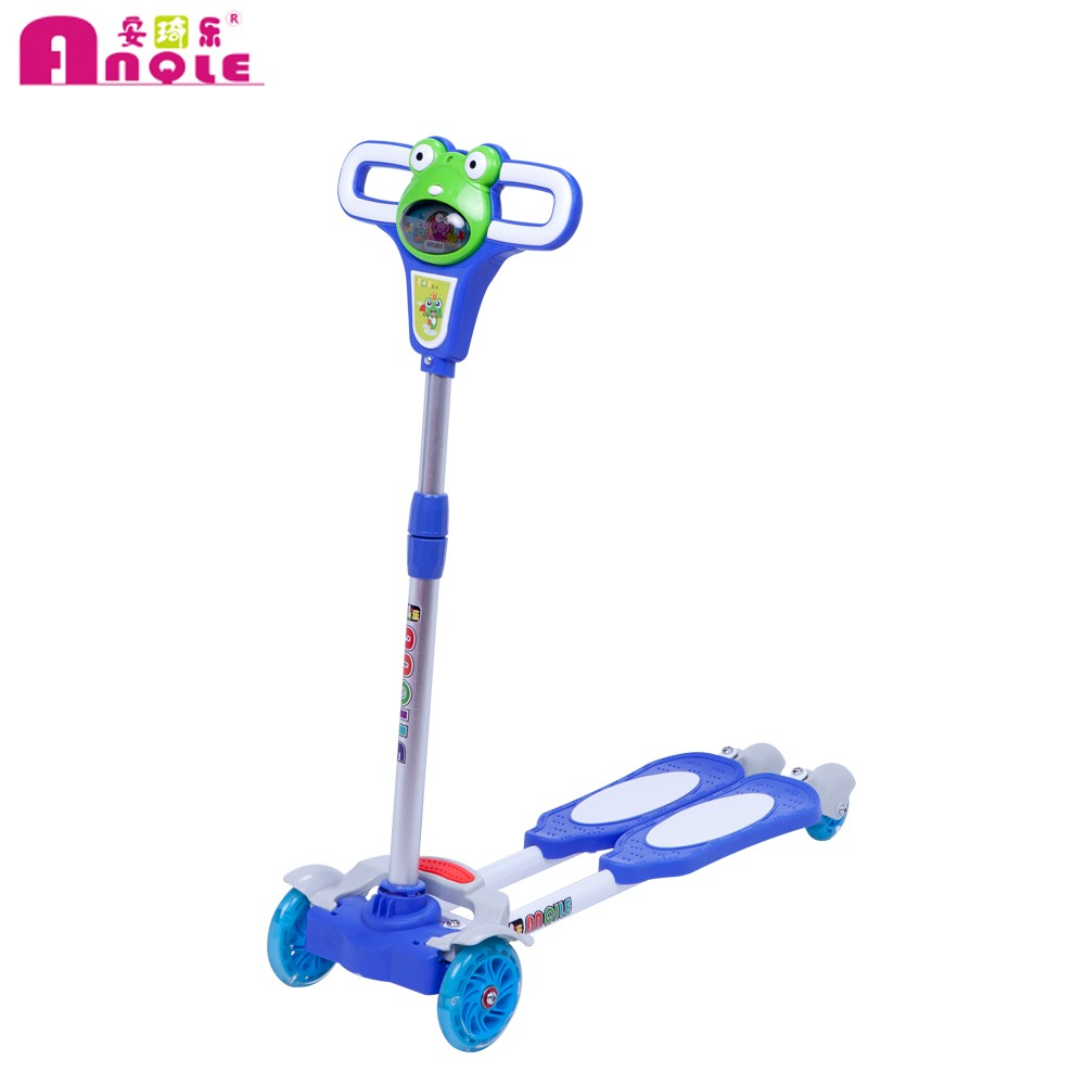 4 wheel frog kid's swing scooter/kick scooter