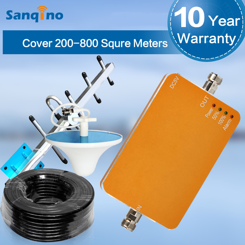 Sanqino single band GSM900MHz mobile cell phone network signal booster enhancer to enhance your signal for Multiple Devices