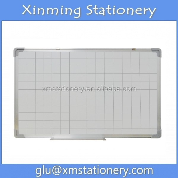 Printed Magnetic Whiteboard with Grib Lines