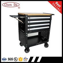 new 4 drawers metal tool cabinet tool storage box workshop tool trolley with wheels