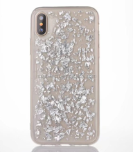 Luxury gold foil phone case for iPhone X colorful tpu diamond bling phone case for iPhone X