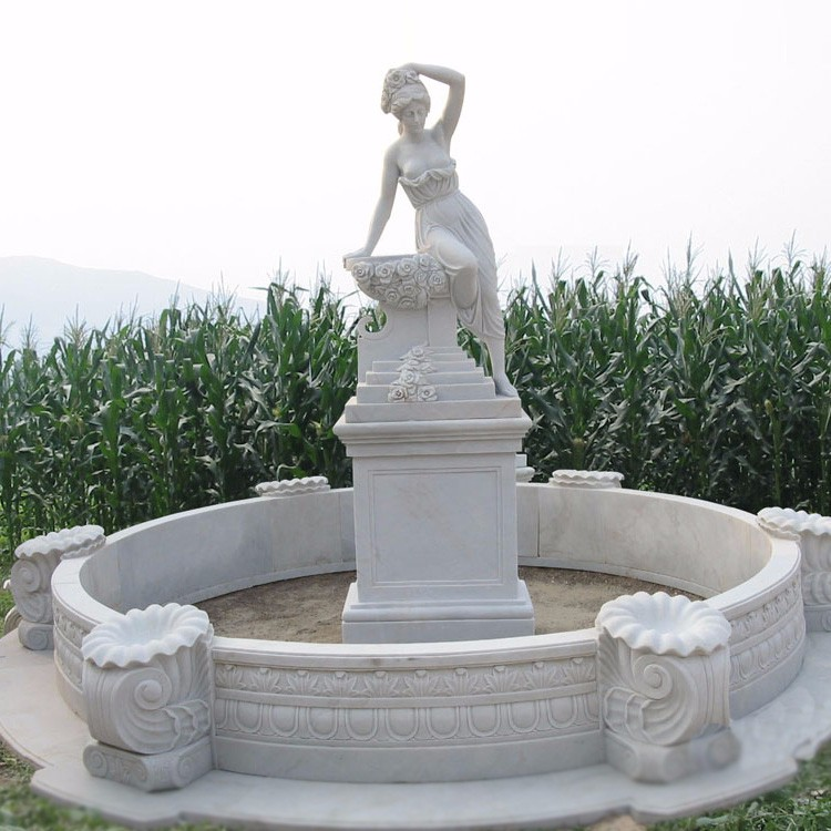 popular design white large marble fountains for sale
