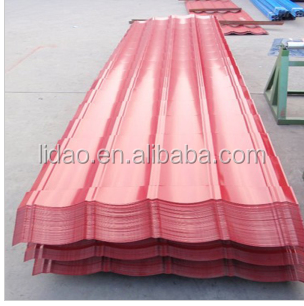 LIDAO Trapezoid aluminum Metal Roofing Plate/ Trapezoidal Steel Sheet