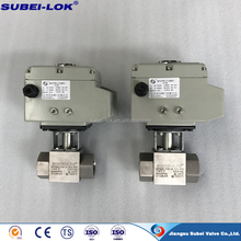 DN25 2 way motorized electric motor operated ball valve