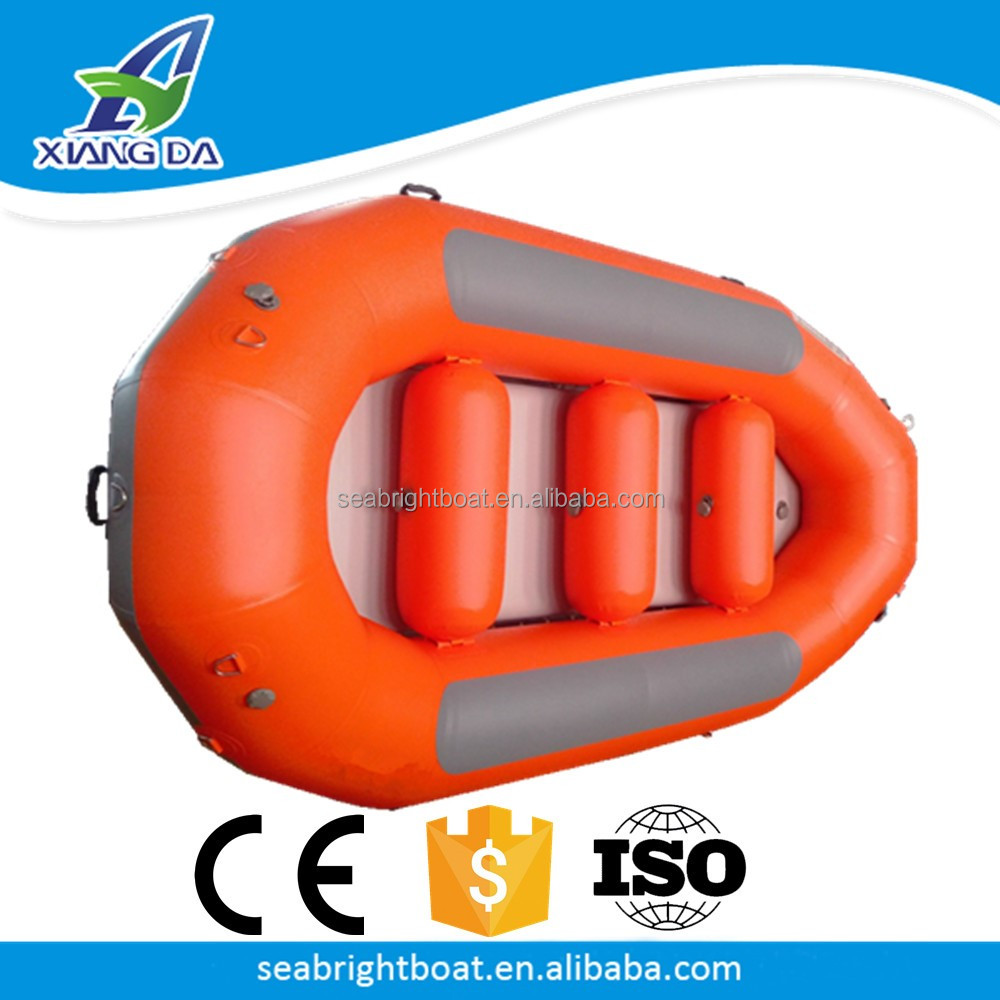1.2mm PVC or Hypalon Hull Material Drop Stitch Floor Inflatable Self Inflating Life Raft