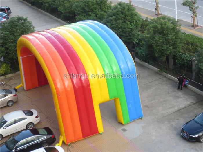 gaint rainbow tent inflatable tent for advertising