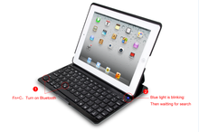 Wireless Bluetooth keyboard with protective case for iPad4/3/2