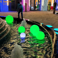 led solar christmas flat ball lights