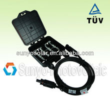 Solar junction box MC4 connector amphenol PV j box