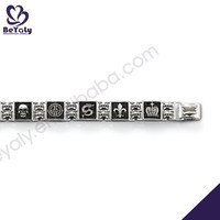 Handmade fashion gemstone silver bracelet luxurious women bracelet watch