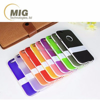 Frosted solid color TPU kickstand mobile phone case for iphone 4 / 4s