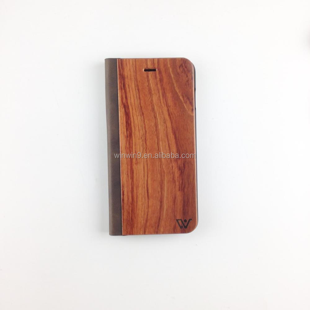 mobile phone accessories,custom laser design flip wood phone case for Iphone,natural flip wood cover for Iphone