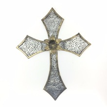 Decorative antique retro cross christian metal wall art