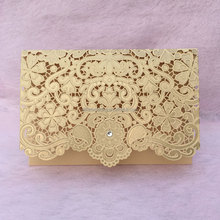 Gold color theme wedding invitation <strong>card</strong>