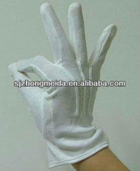 White Marching Band Cotton Glove with mini PVC dots on palm