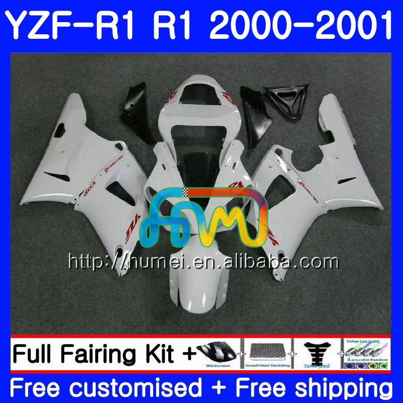 Pearl White Body For YAMAHA YZF R 1 YZF 1000 YZF-<strong>R1</strong> 00-01 Bodywork 98HM6 YZF1000 YZF-1000 YZF <strong>R1</strong> 00 01 YZFR1 2000 <strong>2001</strong> <strong>Fairing</strong>