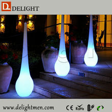 European Style Waterproof Plastic White LED Floor Light, LED mood Light for Garden Decoration