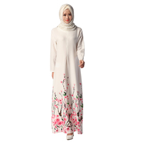 Wholesae traditional baju Kurung high quality flower baju kurung design jubah