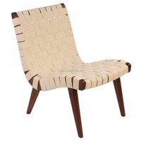 solid wood balcony Risom lounge chair