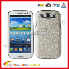 White Snake Skin Leather Texture Hard Mobile Phone Cases for Samsung Galaxy S3 i9300