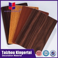 Alucoworld home feeling and warm colores exterior wood composite wall panels 4mm acp bond