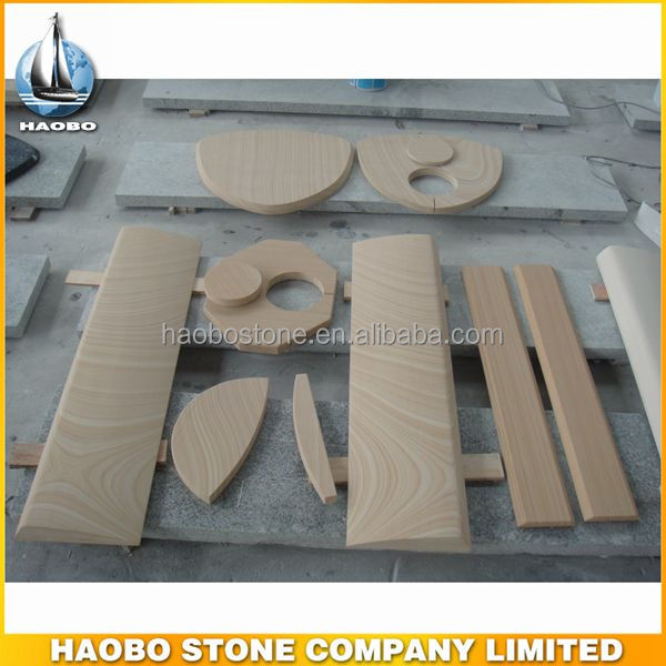 Popular Yellow Sandstone Stand Fireplace ,Wood Burning Stove Fireplace