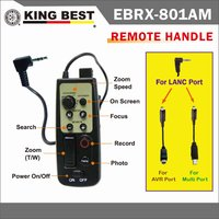 KINGBEST Remote control of tripod for camcorder(LANC) and A/V R and Multi Terminals / R models LANC wired remote control