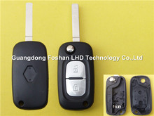 Hot Sell Renault 2 button remote car key shell flip key cover case
