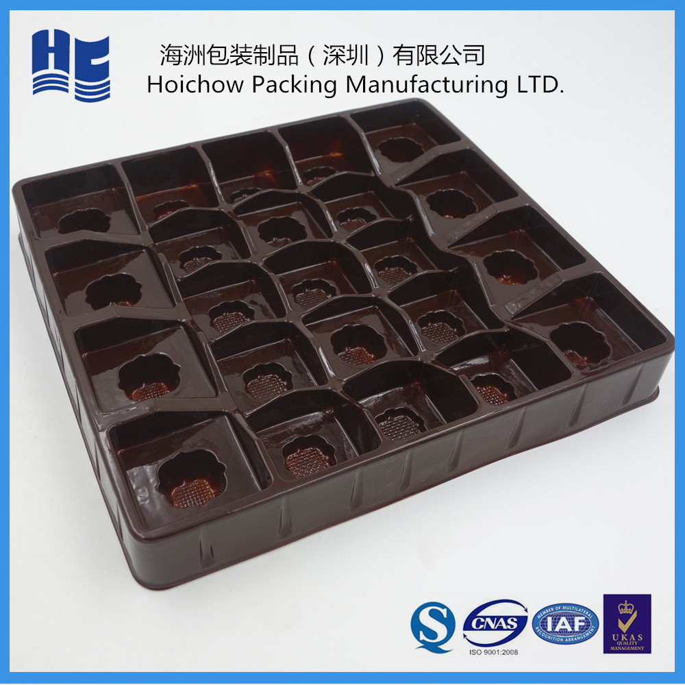 Custom size plastic blister chocolate packaging tray plastic truffle trays