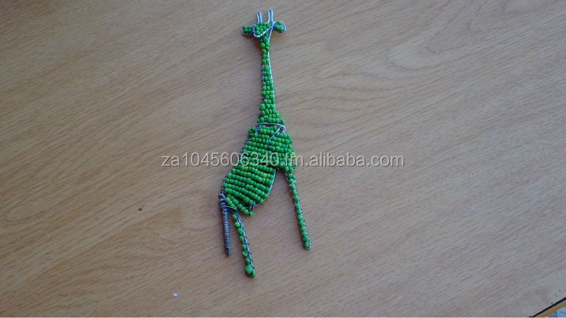 Giraffe Wire beaded Key Chain